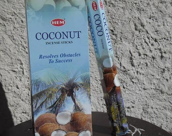 Box of 20 incense sticks to scent your home coconut