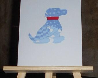 Puppy in iris folding card