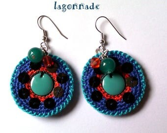 lagonnade: colorful, original earrings
