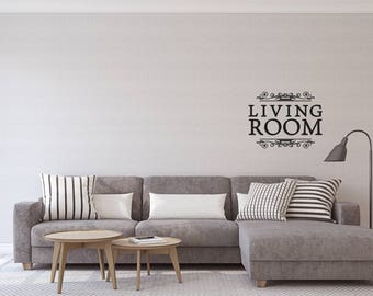 Living room - vinyl on decal paper so you can decorate whatever you like – Home décor