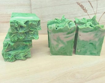 Coconut & Lime Soap | handmade soap | hot process | lime soap | coconut soap
