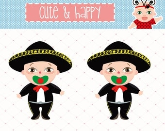 México clipart, Babies Mexican Folklore, Baby Boy Mariachi Hat,  Mexican Party, Mexican png