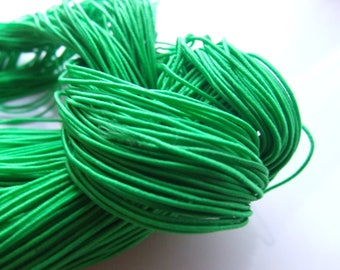 27 YARDS OF ELASTIC CORD MADE OF RUBBER GREEN 1 MM