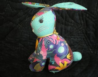 the toy in patchwork fabric