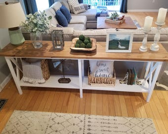 Farmhouse Console Table, Side Table, Entry Table (Local delivery or pick-up only)