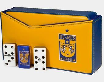 Tigres UANL Domino 100% Acrylic, Faux Leather Case