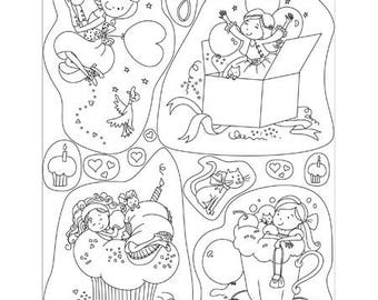 Clear stamps fille_PG41914 birthday