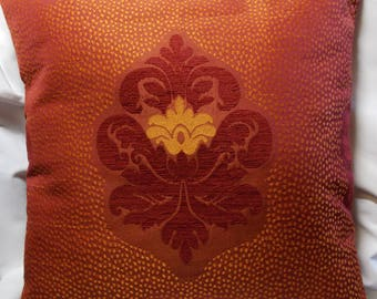 Cushion cover pattern Arabesque jacquard fabric