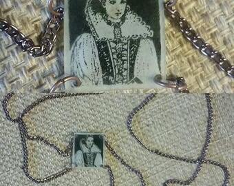 Elizabeth Bathory portrait necklace