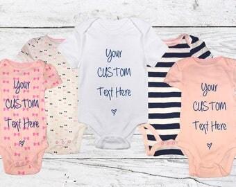 Custom Baby Onesies - Request Custom Text/Design!!