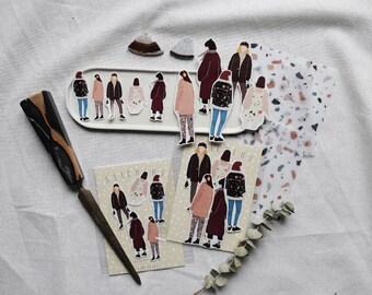 Terrazzo girls - Transparent Sticker Set