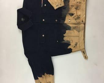 Bleach dyed jean jacket FUBU xxl