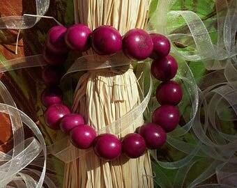 Seeds of Amazonia in Brazil Violet forest bracelet