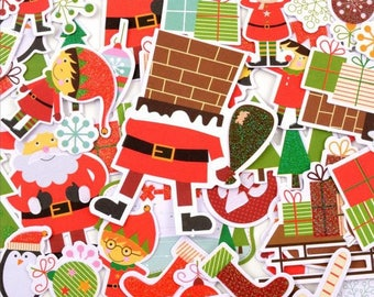 Embellishments - Die cut - the Christmas Elves - 56 shapes - Toga - new