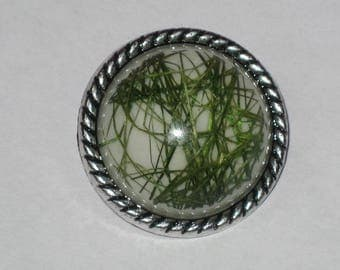 """Button snap resin """"green threads"""" size S"""