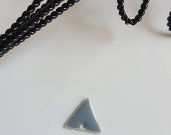 Sequin gray and silver triangle shape