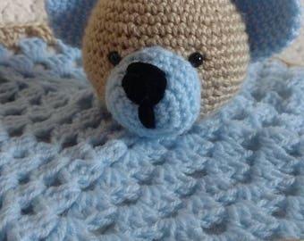 Teddy bear lovey baby boy baby shower gift