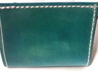 turquoise simple credit card holder