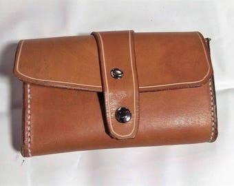 belt loop Brown oak coin pouch