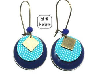 Polka dot pattern earrings