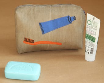 My first toiletry bag