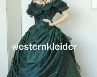Made to measure Victorian dress Crinolines dress Biedermeier dress civil was dress