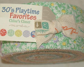 """Jelly Roll by moda - """"30's Playtime Favorites"""" - strips of fabric."""