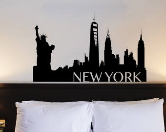 New York City Skyline Silhouette Decal