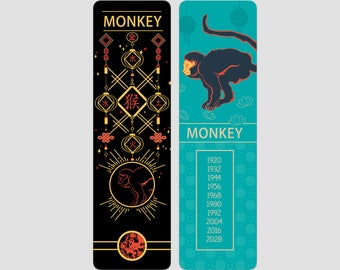 Monkey Chinese Zodiac Sign (Sheng Xiao)   Bookmark