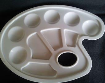 White plastic paint pallet