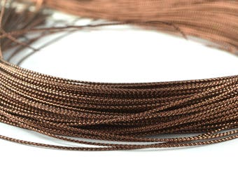 5 M of metallic Brown wire 0.8 mm polyester