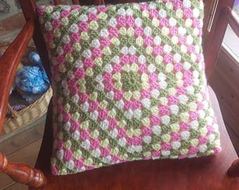 Handmade crochet cushion