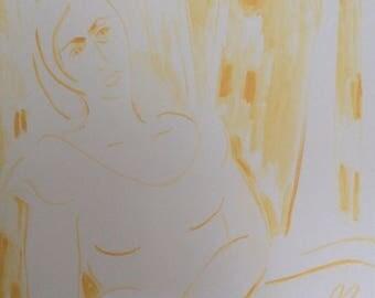 Ethereal deep edge canvas by Myra Thomas
