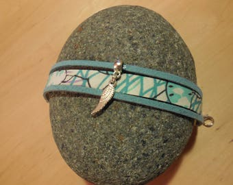 Liberty bracelet turquoise and wing charm