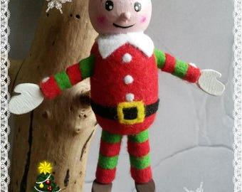 Elf supervisor 3D wooden dress felt