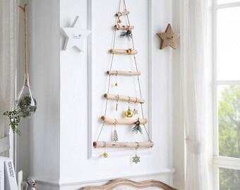 Wooden Christmas Tree Decor, Christmas Tree Wall Decor, Hanging Christmas Tree, Christmas Decor, Holiday Decor, Home Decor, Christmas Tree