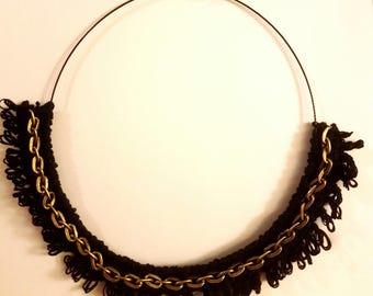 The Lunar Eclipse, black necklace