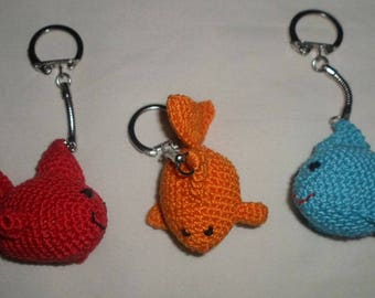 key chain small fish hook