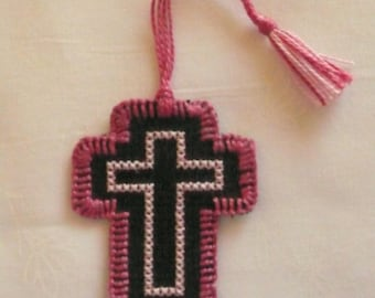 Cross Stitched Embroidered Bookmark