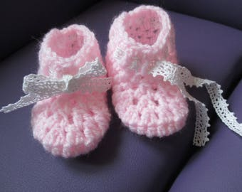 Slippers pink 0-3 month baby