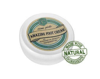 Amazing foot cream with Peppermint oil and Rosemary extract
