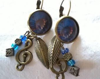 Earrings bronze earrings 2 pairs in 1