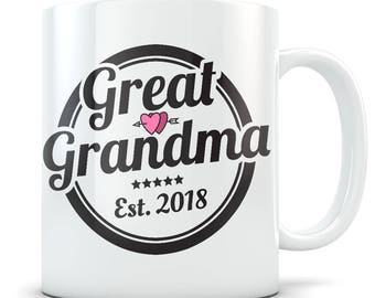 Great Grandma Gift, Great Grandma Mug, Best Great Grandma Gift, Gifts for Great Grandmas, Best Great Grandma Mug, New Great Grandma Coffee
