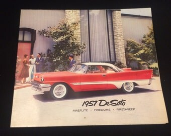 1957 De Soto Fireflight Firedome and Firesweep dealer booklet/brochure/literature