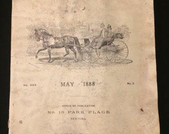 "Scarce coach-making magazine/trade publication May 1888-""the hub"""