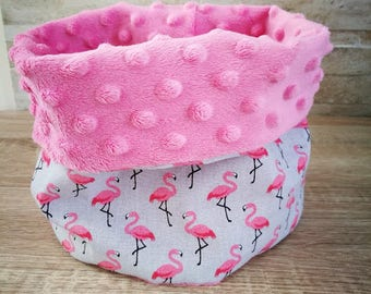 snood/neck circumference for children soft pink with a Flemish rose