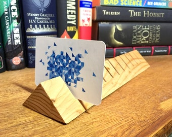 Wooden Business Card Holder (Holds 11 Cards)