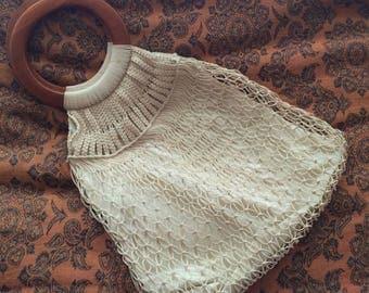 Vintage crocheted bag