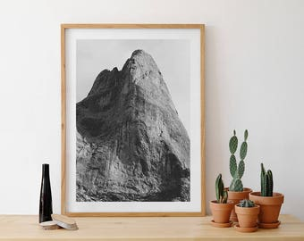 Mountain photography, photography for climbers, rock, rock-climbing, posters of climbing, monochrome printing, landscape
