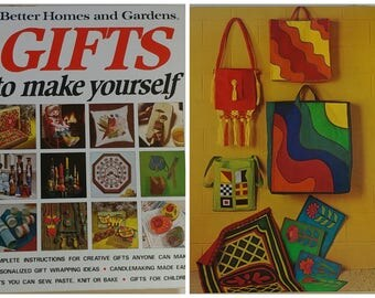 Vintage Craft Book Better Homes & Gardens Retro Groovy DIY How To Gifts Jewelry Sewing Kids Crafts Needlework Candlemaking Baking